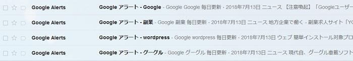 Googleアラートの画像