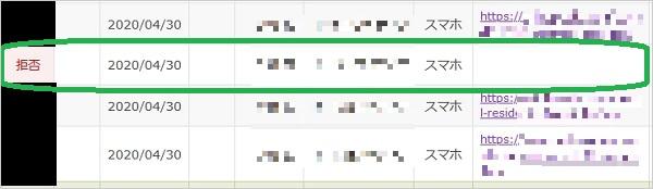 SNSに直接アフィリエイトリンクを投稿しても承認拒否されることを表している画像