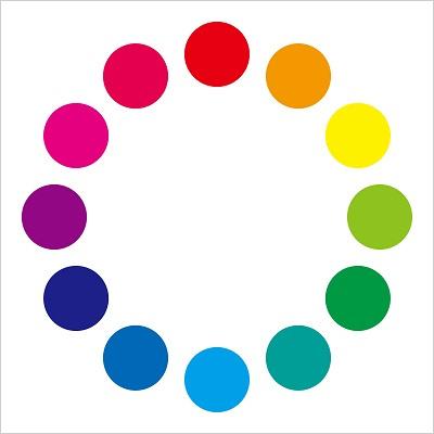 ブログ画像の文字入れはブログのメイン色の反対色・補色を入れる、その際に使える色相環図の画像