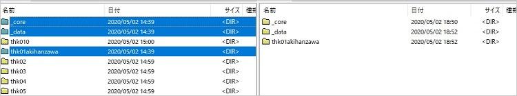THKアナリティクスの中身をサーバーにアップロードしている画面の画像