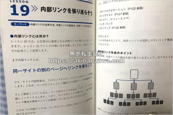 これからはじめるSEO内部対策の教科書の内部対策のページの画像